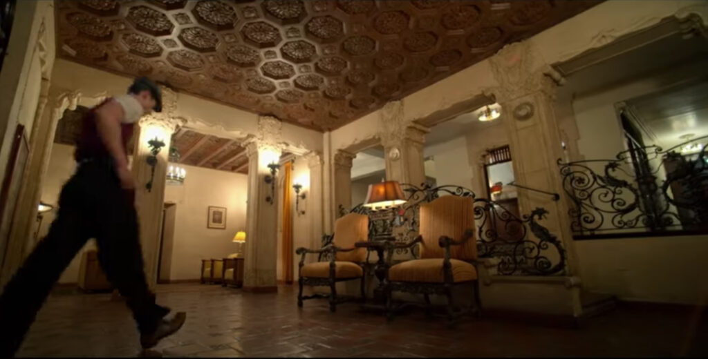 The lobby/reception area of Jack's apartment in Hollywood