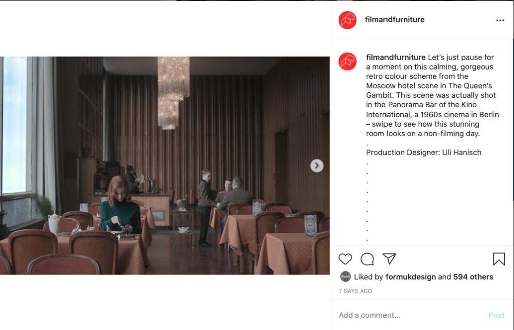 the queens gambit instagram grab
