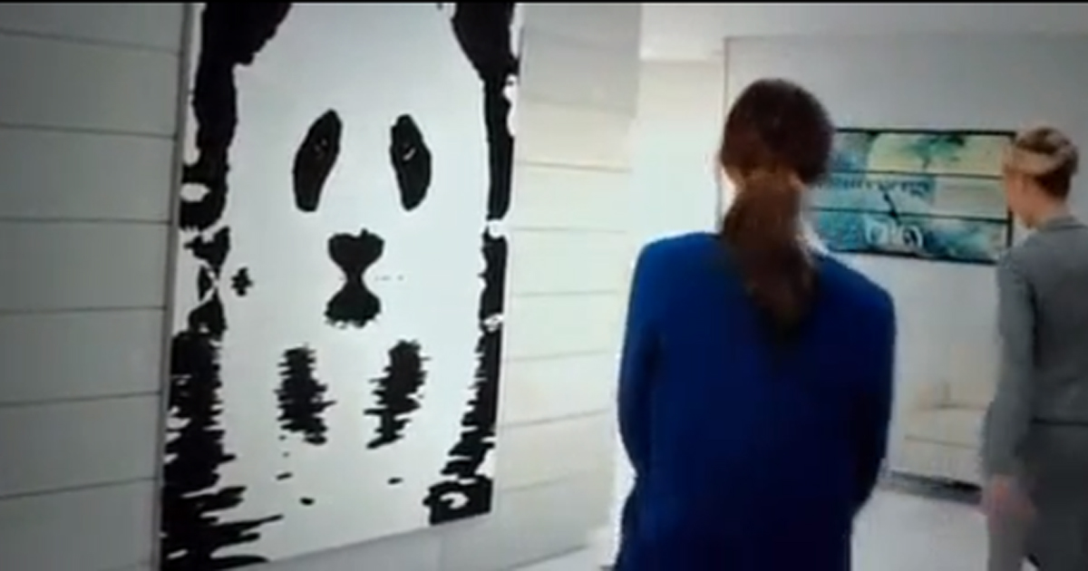 Panda painting in Fifty Shades of Grey
