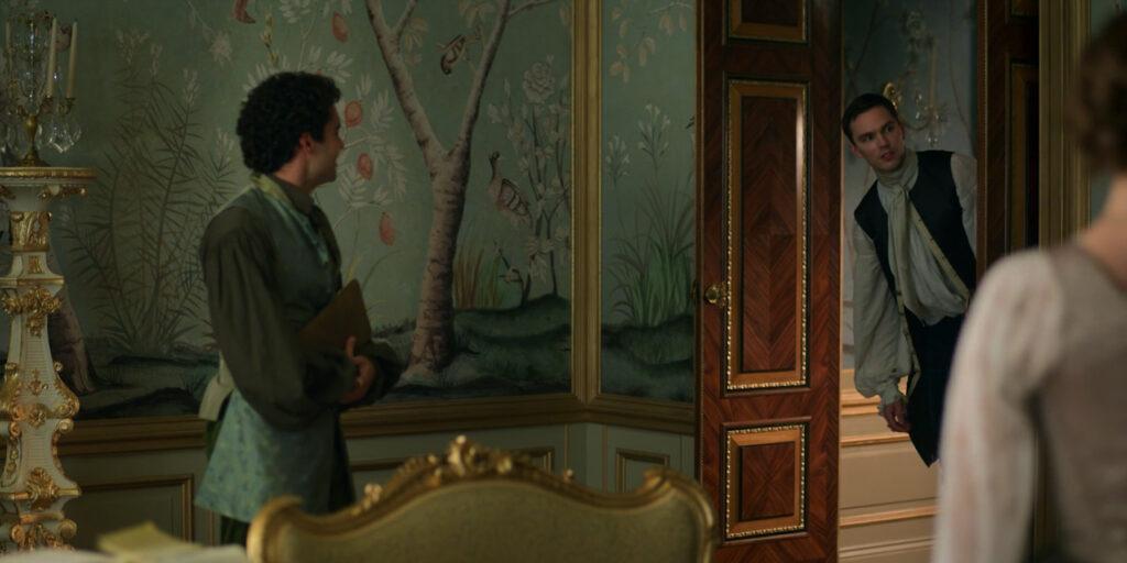 Peter pops his head around the door of Catherine's bedroom in The Great