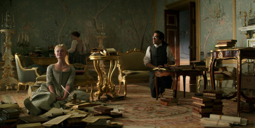 Catherine's bedroom in The Great