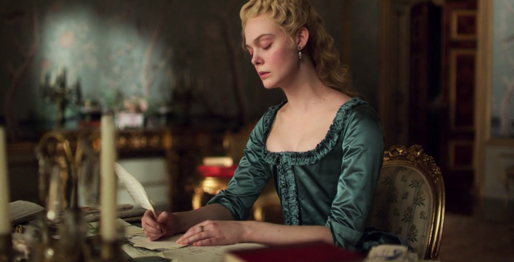 Catherine's writing desk in her bedroom, in The Great