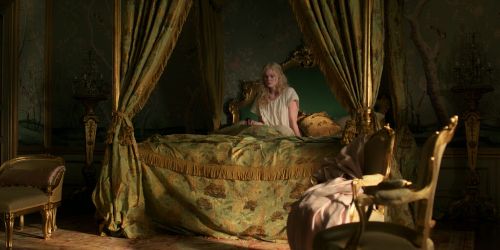 Catherine's bed in The Great