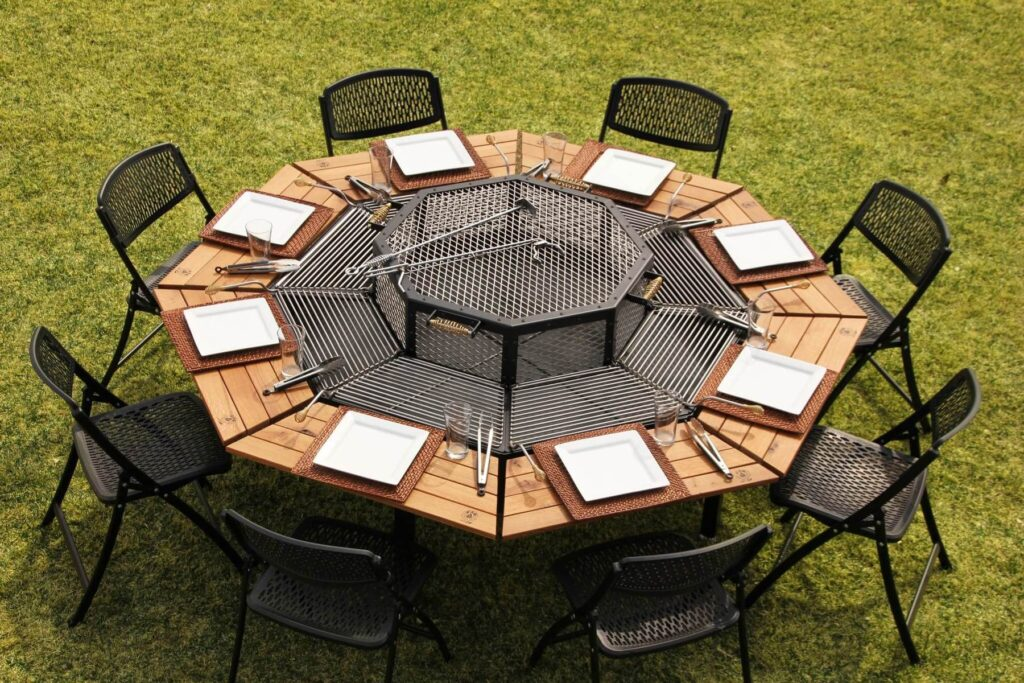 The Jag Eight outdoor BBQ table