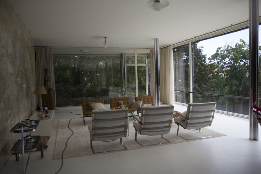 Tugendhat chairs in Villa Tugendhat, the setting of The Affair