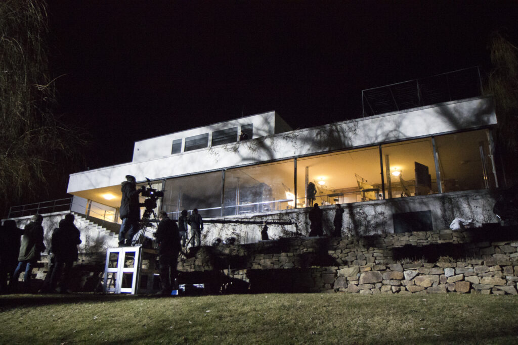Filming The Affair at the Tugendhat house