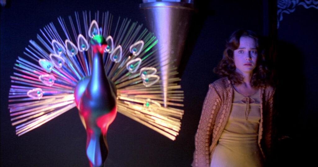 Jessica Harper in Suspiria neon in film