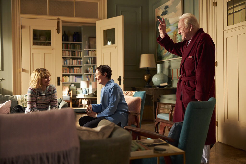 the production design, set decoration, furniture and decor of The Father