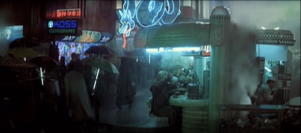 the White Dragon noodle bar neon sign in Blade Runner