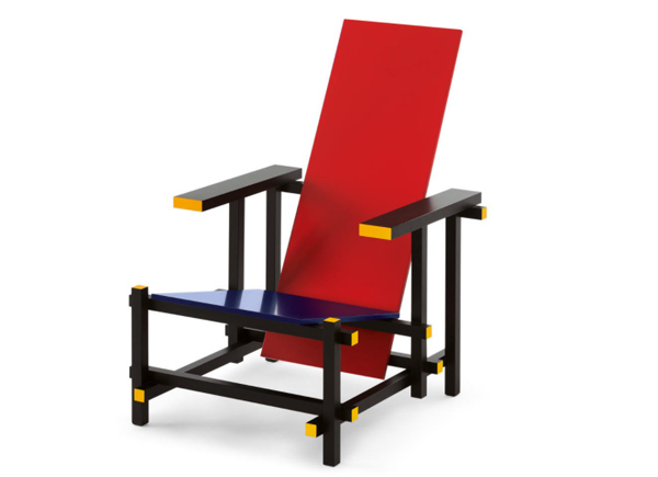 Contact us for information and current prices for newly produced and vintage versions of the Rietveld chair.