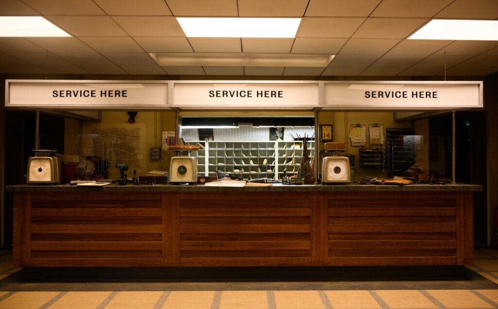The post office set - then (Image: James Merifield)