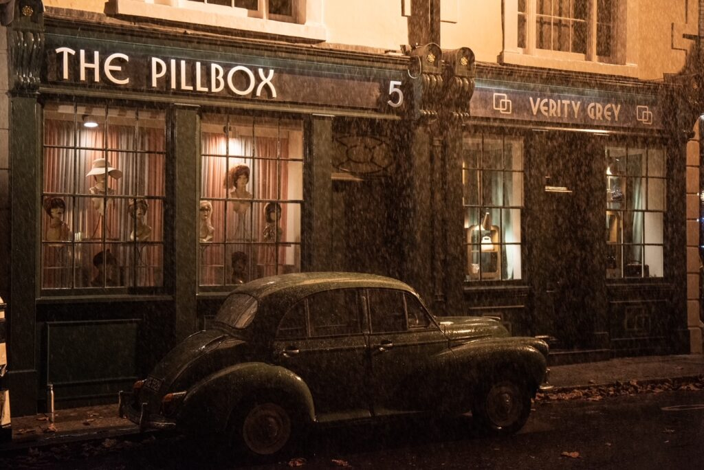 1960s London by night - The Pillbox in Last Letter From Your Lover (Image: James Merifield)