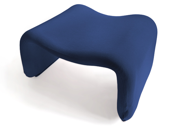 Djinn stool/ottoman (to accompany the Djinn chair) by Olivier Mourgue as seen in 2001: A Space Odyssey