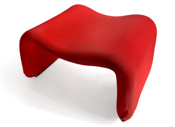 djinn stool by olivier mourgue as seen in 2001 a space odyssey, red